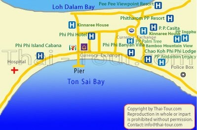 Map of Phi Phi Banyan Villa